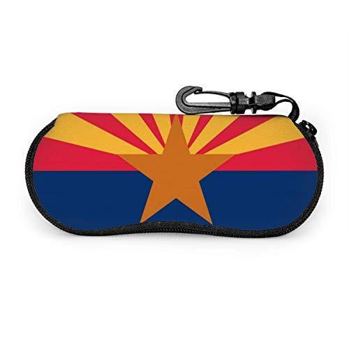 sherry-shop Estuche para gafas de sol Estuche suave para gafas de sol Arizona Estuche de anteojos con cremallera de neopreno ultraligero con llavero