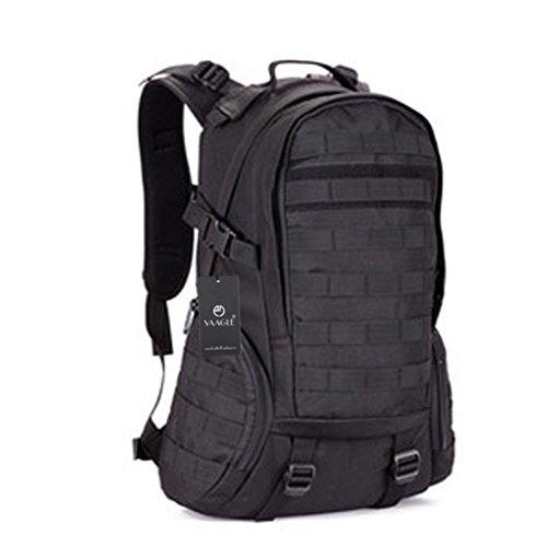 YAAGLE 35 L wasserdicht Rucksack Reisetasche Gepäck militärisch Outdoor Schultertasche Schüler Schultasche Sporttasche-schwarz