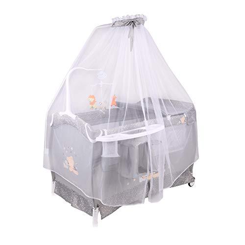 Lorelli 10080341807 Lit Parapluie avec Baldaquin Musical Gris