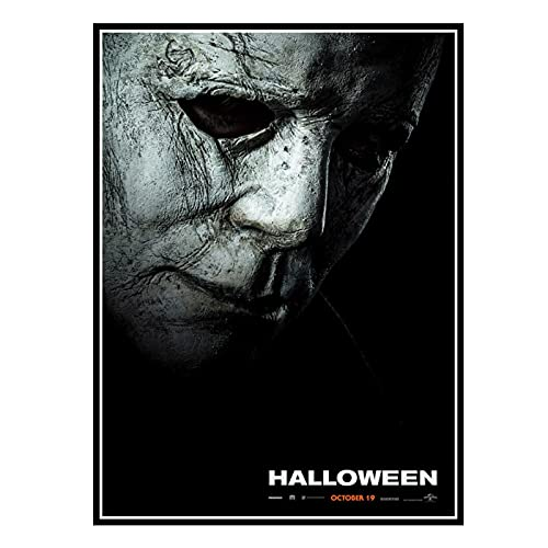 GUICAI Halloween Poster New 2018 Movie Michael Myers Curti Decorative Wall Art Posters Living Room Home Decoration -20X28 Inch No Frame 1 Pcs