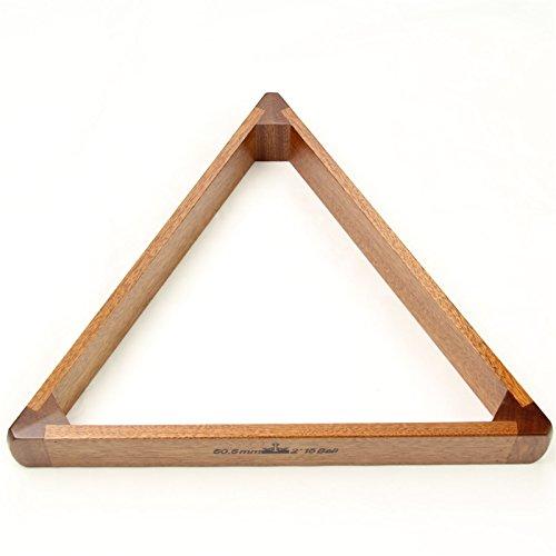2 1/16 Zoll), 15 Snookerkugeln Peradon luxuriöse massive Mahagoni-Holz, dreieckig