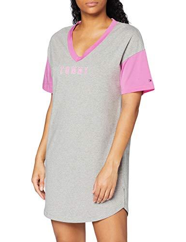 Tommy Hilfiger Dress SS Juego de Pijama, Mid Grey Heather, XS para...