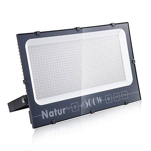 500W LED Foco Exterior de alto brillo, Impermeable IP66 Proyector Foco LED, Blanco frío,Iluminación de Seguridad, para Patio Pared,Patio, Camino, Jardín (Blanco frío, 500W)