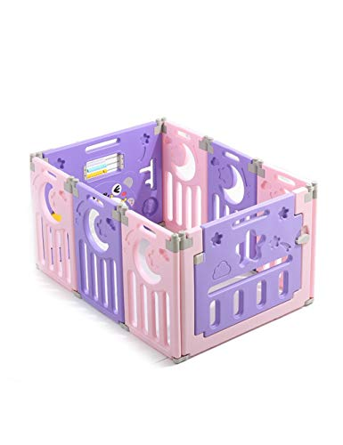 Review WSQAQM7 Baby Fence Indoor Color Children's Playpen Foldable Indoor and Outdoor Crawling Toddl...