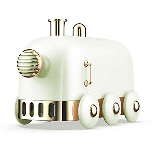 OGTFRWS Lindo Tren de Dibujos Animados hogar humidificador de Aire Aerosol portátil USB Recargable humidificador inalámbrico lámpara de Color (Color : White)