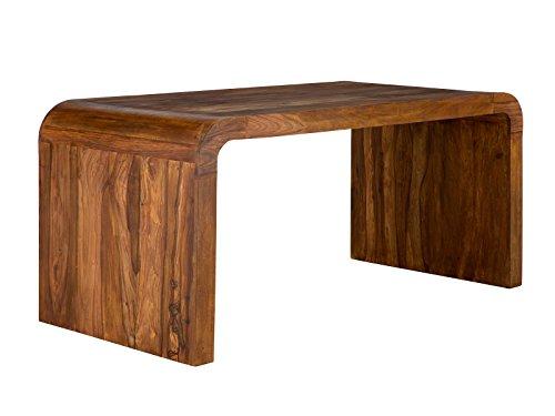 massivum Schreitbisch Cube 160x75 cm aus massivem Palisander-Holz mit gewachster Oberfläche für Büro und als Doppel-Schreibtisch geeignet, auch als Esstisch verwendbar mit 4 Sitzplätzen