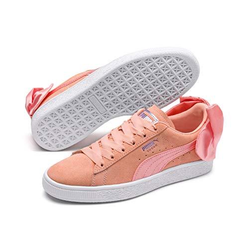 Puma Damen Suede Bow WN's Sneaker, Pink (Peach Bud White), 39 EU