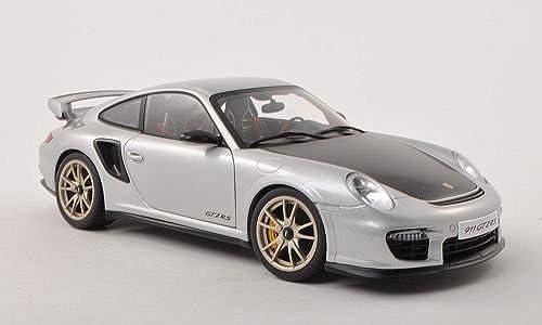 Porsche 911 GT2 RS (997), silber carbon , 2010, Modellauto, Fertigmodell, AUTOart 1 18