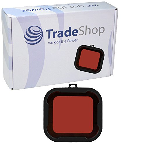 Trade-Shop Tauchfilter Filterhalterung Objektiv-Deckel UV Filter Rotfilter Snap-On Aqua für GoPro Hero3 +/3 Plus Hero 4 Aqua Series