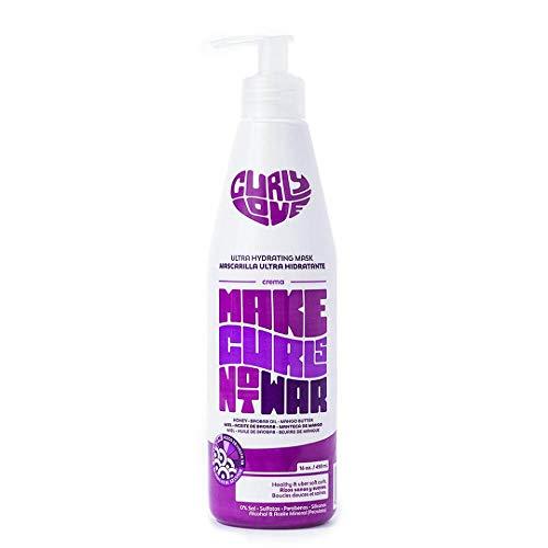 Curly Love Ultra Hydrating Mask 450ml - Mascarilla Capilar Ultra Hidratante Para Cabellos Rizados de Tipo 2B a 3B, Sin Sulfatos, Parabenos y Siliconas - Apto Para el Método Curly