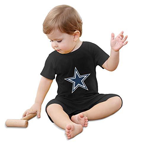 Einst Baby-Strampler mit kurzen Ärmeln, Dallas Cowboys Star SVG Gr. 18 Monate, Schwarz