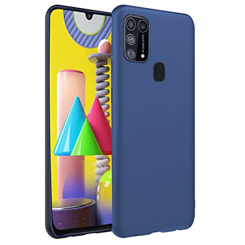 CEDO Samsung M31 / F41 / M31 Prime Back Cover   Matte Soft Silicon Flexible   Camera Bump Protection   All Side Shock Proof Rubberised Back Case Cover for Samsung Galaxy M31 / F41 / M31 Prime (Blue)