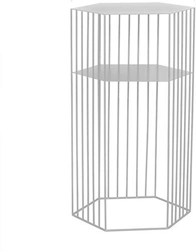 Salontafel van verguld ijzer, creatieve woonkamer, hoekbank, bijzettafel, vrijetijdstafel, eettafel, theetafel (kleur: zwart, maat: 454538 cm) 6 6