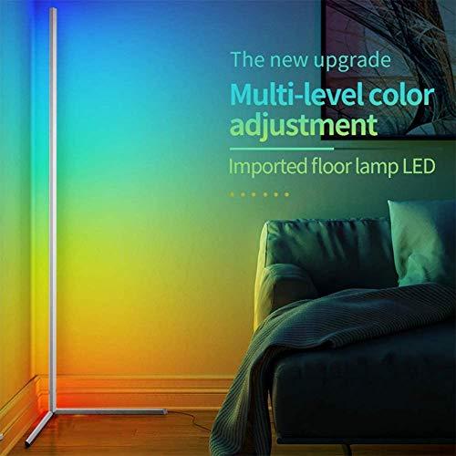 Lámpara de pie de esquina LED, lámpara de pie de pie de noche nórdica de pie, dormitorio led iluminación de vida Dimmable Dormitorio Decoración de la decoración de la luz del piso (Color : White)