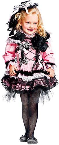 VENEZIANO Costume di Carnevale da Ballerina Vecchio West NEONATA Vestito per neonata Bambina 0-3 Anni Travestimento Halloween Cosplay Festa Party 50642 Taglia 2