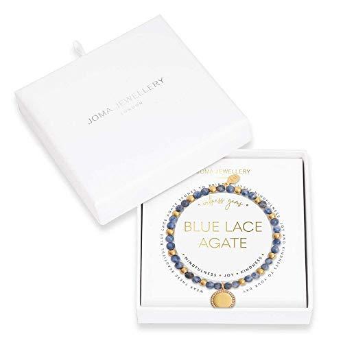 Joma Jewellery Wellness Gems | Blue Lace Agate Bracelet