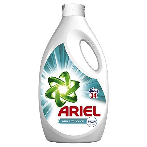 Ariel Lessive Liquide Touche de Fraîcheur Febreze 2 210ml 34Lavages - Lot de 2