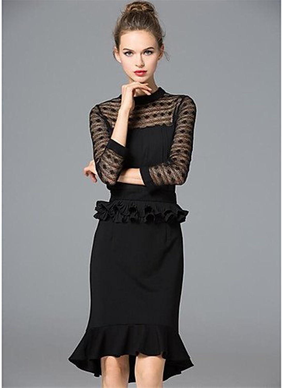 JIALELE Ladies Dress,Short Sleeve,Sleeveless Women'S Dress,Solid Print Round Neck 3 4 Length Sleeves Micro-Elastic