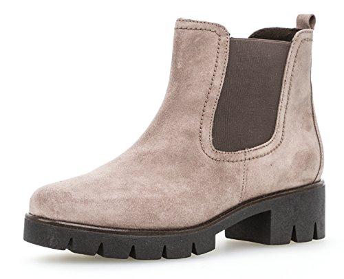Gabor Damen Chelsea Boots 93.710,Frauen Stiefel,Halbstiefel,Stiefelette,Bootie,Schlupfstiefel,hoch,Blockabsatz 3cm,F Weite (Normal),Dark-Rose,UK 7