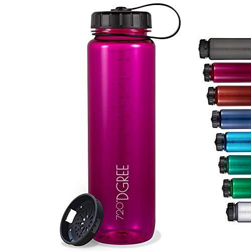 "720°DGREE Botella de Agua Basic ""simplBottle"" – 1 Litro, 1.5 litros | Sin BPA Beber, Deportiva, Outdoor, Niños"