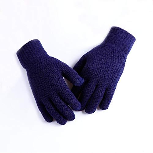 Invierno de los hombres de punto guantes de pantalla táctil macho guante grueso cálido lana cachemira hombre de negocios guantes de otoño