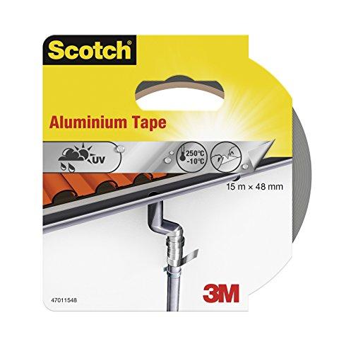 Scotch 47011548 Aluminium-Klebeband (48 mm x 15 m) silber