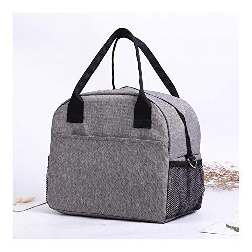 Lunchzakken Voor Dames/Heren, Grote Geïsoleerde Lunchbox, Diepvrieslunchtas Voor Werk, Herbruikbare Koeltas Voor Volwassenen, Opvouwbare Packit-Tas Voor Lunch,Gray