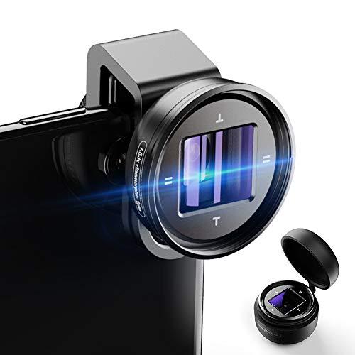 Momento-anamórfico Lente 1.33x Lente Ancha Videocámaras Vlog grabación de vídeo Lente de la cámara del teléfono móvil Deformación HD para Smartphones iPhone Huawei Samsung