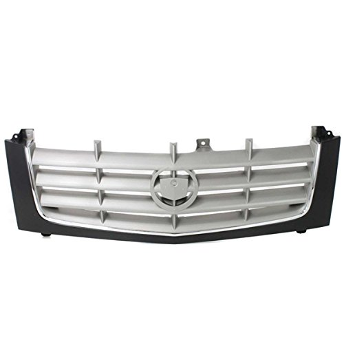 Koolzap For 02-06 Escalade Front Grill Grille Assembly Black Frame/Silver GM1200509 15162129