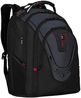 "Swissgear Wenger Ibex 17"" Laptop Deluxe Backpack With Tablet Pocket Black/Blue"