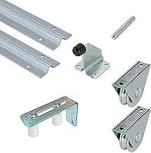 Metalideal | poortenset, rond, 20 mm | 2 rails 20 mm, 1 verbindingsstuk, 2 wielen of wielen, 1 geleideplaat, 1 aanslag