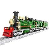 WEERUN City Tren con Pista Set de Construcción, Tren Navidad Maqueta de Juguete Tren...