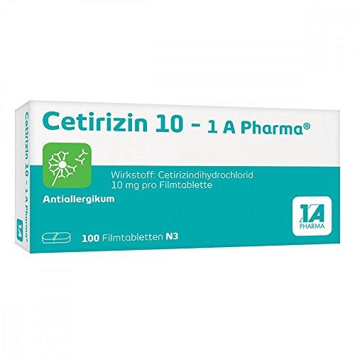 Cetirizin 10-1A Pharma 100 stk