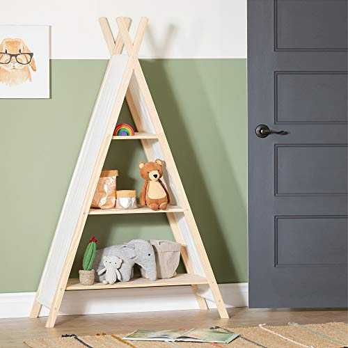 South Shore Sweedi Teepee Shelving Unit-Natural Cotton and Pine