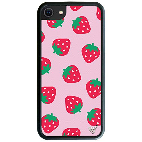 Wildflower Limited Edition Cases Compatible with iPhone 6, 7, 8 or SE (Strawberries)
