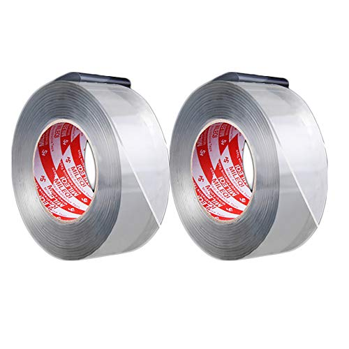MMJJQWE 2 stks Caulk Tape, Sterke Flex Lekkage Reparatie Waterdichte Tape, voor Badkuip Badkamer Keuken wastafel Edge Douche Toilet Keuken, 118 Voet Lengte