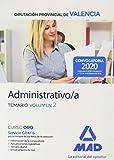 Administrativo/a de la Diputación Provincial de Valencia. Temario volumen 2