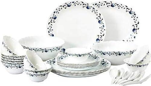 DK HOME APPLIANCES Presents 12 Pieces Dinner Set 4 Spoon 4 Dish 4 Bowl Multicolor