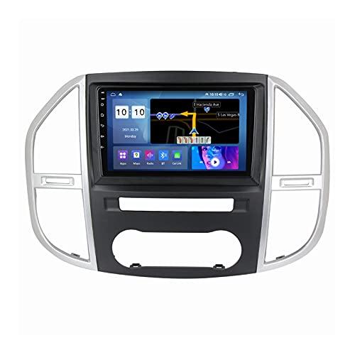Android 10.0 Car Stereo Sat Nav Radio para Mercedes Benz Vito 3 W447 2014-2020 Navegación GPS 2 DIN 9 '' Unidad Principal Reproductor Multimedia MP5 Receptor de Video con 4G FM DSP WiFi SWC Carplay