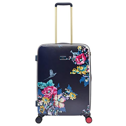 Joules Cambridge Floral Hard Case Trolley Travel Luggage Case 4-Wheel, Large