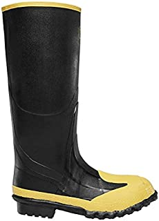 "Lacrosse Footwear 0022-8260 SZ 12 Meta Pac 228260 16"" Rubber Boots with Steel Toe and Metatarsal, 13, Black, 12"