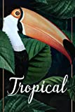 Tropical Notebook: Tropical Notebook White Paper Blank Journal with Black Cover Medium Size 6'' x 9'' with 110 Pages Makes A Wonderful Gifts For Love Ones
