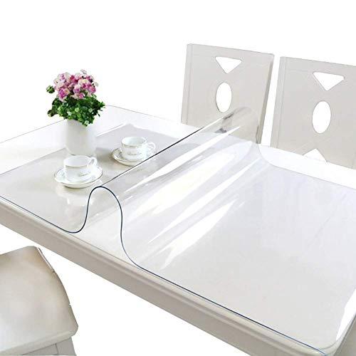 Tovaglia resistente per tavolo da pranzo, in PVC trasparente, pellicola protettiva...