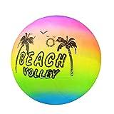 Centeraly Playa Voleibol Bola Verano Pelota de Playa Inflable Goma Arcoiris Playa Voleibol Piscina Nadar Jardín Juego Red Niños Juguete - Color, 20cm