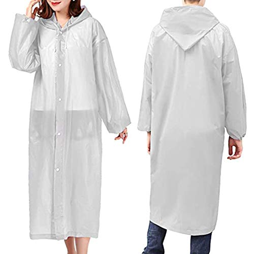 Reusable Rain Ponchos For Women Men Adults (2 Pack) Portable Rain Coat Jacket
