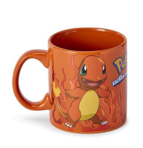 Taza de café Charmander Orange Flame con personaje Charmander