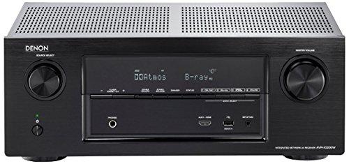 Denon AVRX3200WBKE2 7.2 Surround AV-Receiver (Dolby Atmos, dtsX, WLAN, Bluetooth, Spotify Connect, 7 Plus 1 HDMI 3D, 4K, 2 HDMI Ausgänge, HDCP 2.2, App steuerbar , 2-Zonen, 7x 180 Watt) schwarz