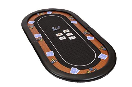 Riverboat Gaming Champion Faltbare Pokerauflage mit schwarzem wasserabweisenden Stoff und Tasche - Pokertisch 180cm
