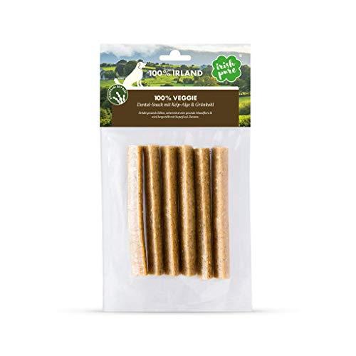 Irish Pure 100% Veggie-Snack mit Kelp-Alge & Grünkohl - Zahnpflege Snack, Zahnreinigung, Gegen Plaque beim Hund, Getreidefrei, Hunde Belohnung (Veggie, Dental-Snack mit Kelp-Alge & Grünkohl)