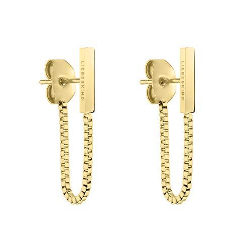 Liebeskind Ohrringe LJ-0462-E-30 Damen Ohrstecker Edelstahl Gold